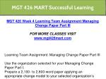 mgt 426 mart successful learning 23
