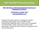 mgt 426 mart successful learning 6