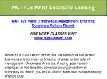 mgt 426 mart successful learning 9