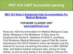 mgt 434 cart successful learning 9