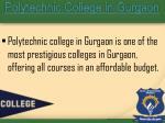polytechnic college in gurgaon