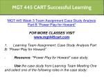 mgt 445 cart successful learning 13