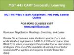 mgt 445 cart successful learning 19
