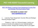 mgt 448 assist successful learning 13