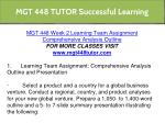mgt 448 tutor successful learning 10