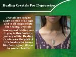 healing crystals for depression