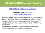 mgt 460 master successful learning 2