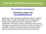 mgt 460 master successful learning 4