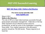 mgt 490 successful learning 10