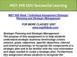 mgt 498 edu successful learning 6