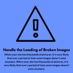 handle the loading of broken images when your
