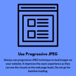 use progressive jpeg
