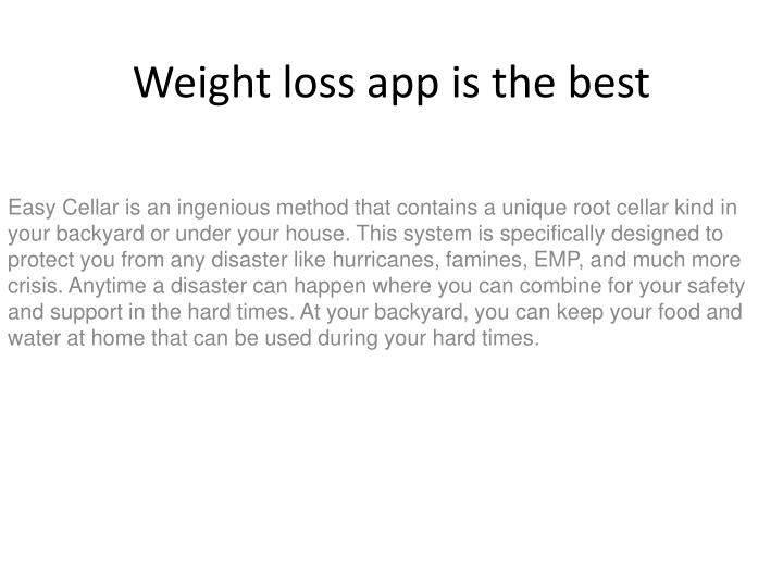 weight loss app is the best n.