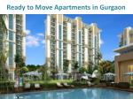 ready to move apartments in gurgaon