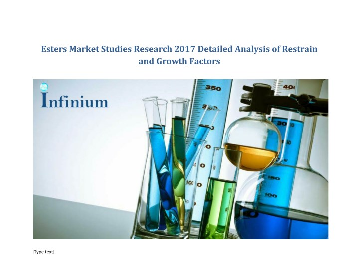 esters market studies research 2017 detailed n.