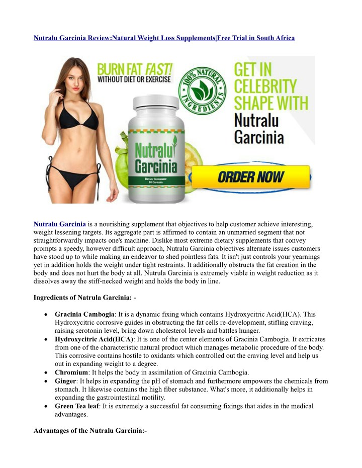 nutralu garcinia review natural weight loss n.