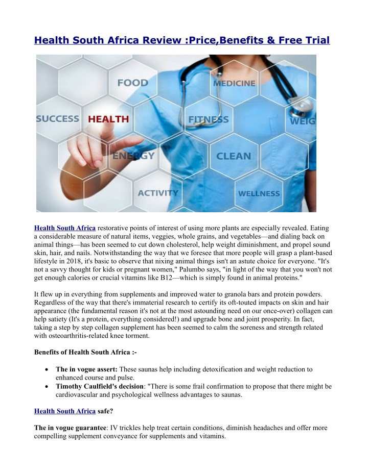 health south africa review price benefits free n.