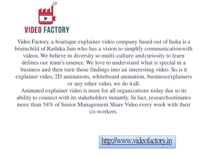 video factory a boutique explainer video company n.