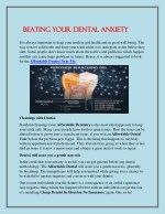 beating your dental anxiety beating your dental