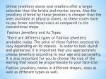 online jewellery stores and retailers offer