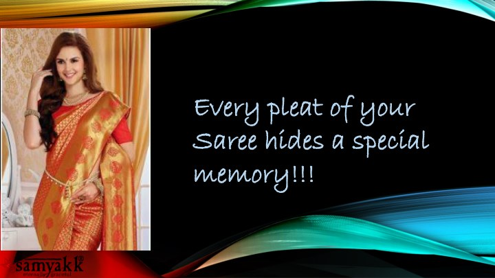 every pleat of your every pleat of your saree n.