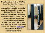 transform your body at otc with