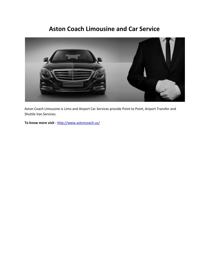 aston coach limousine and car service n.