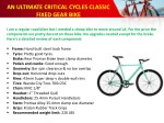 an ultimate critical cycles classic fixed gear