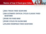 name of top 5 fixed gear bikes