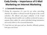cody emsky importance of e mail marketing on internet marketing 4