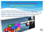 what is internet brand marketing http devcreation website