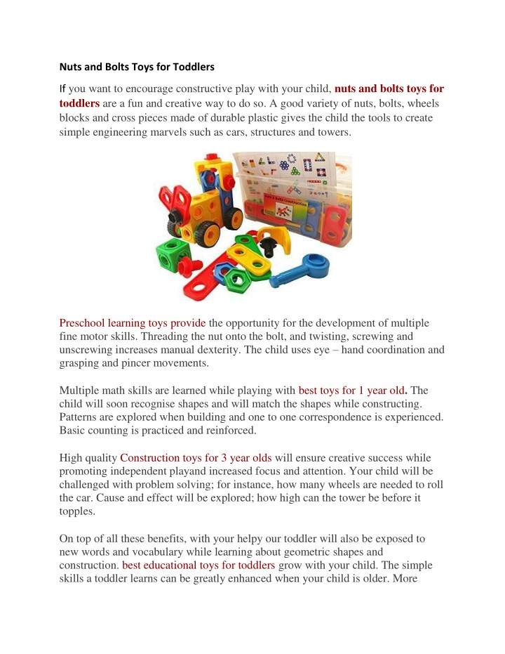 nuts and bolts toys for toddlers n.
