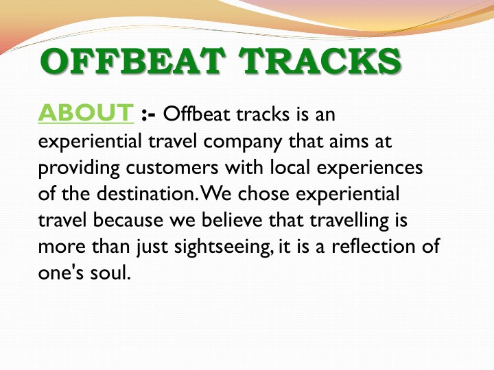 offbeat tracks n.