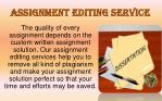 assignment editing service