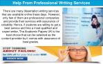 help from professional writing services