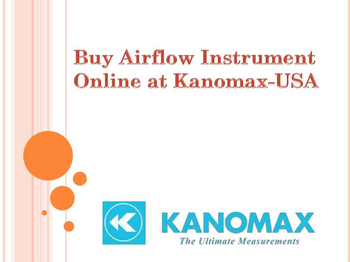 buy airflow instrument online at kanomax usa n.