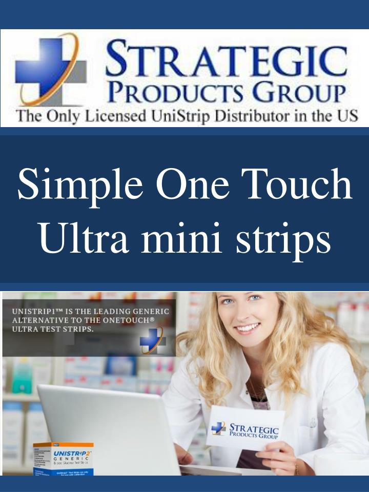 simple one touch ultra mini strips n.