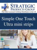 simple one touch ultra mini strips