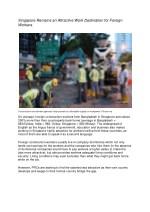 singapore remains an attractive work destination