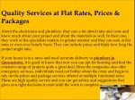 quality services at flat rates prices packages