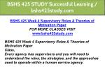 bshs 425 study successful learning bshs425study 12