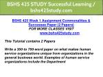 bshs 425 study successful learning bshs425study 2