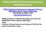 bshs 425 study successful learning bshs425study 6