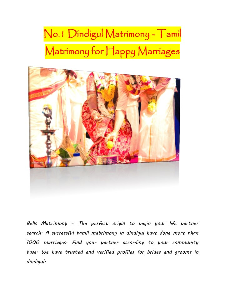 no 1 matrimony for happy marriages n.