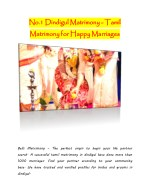 no 1 matrimony for happy marriages