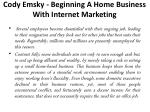 cody emsky beginning a home business with internet marketing 1