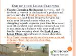 end of your lease cleaning
