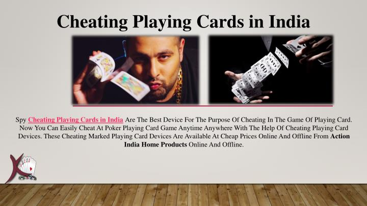 cheating playing cards in india n.