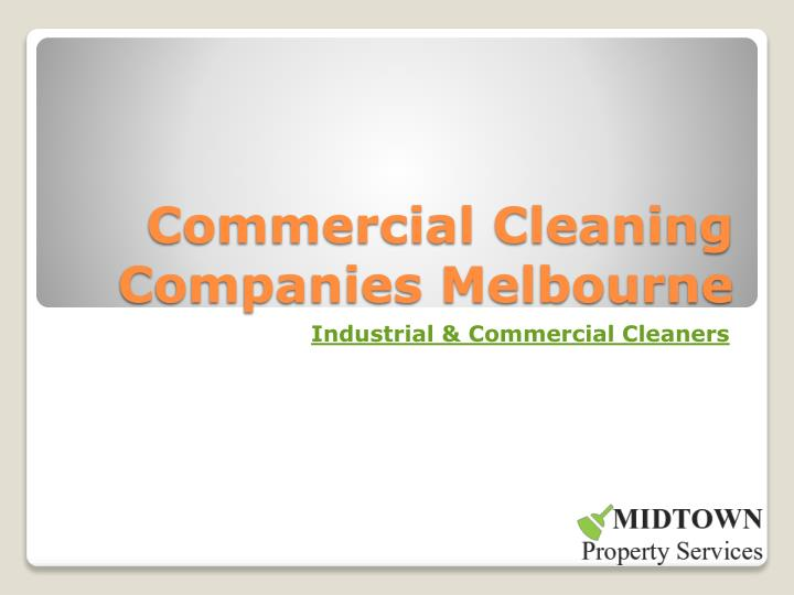 commercial cleaning companies melbourne n.