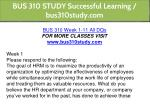 bus 310 study successful learning bus310study com 2